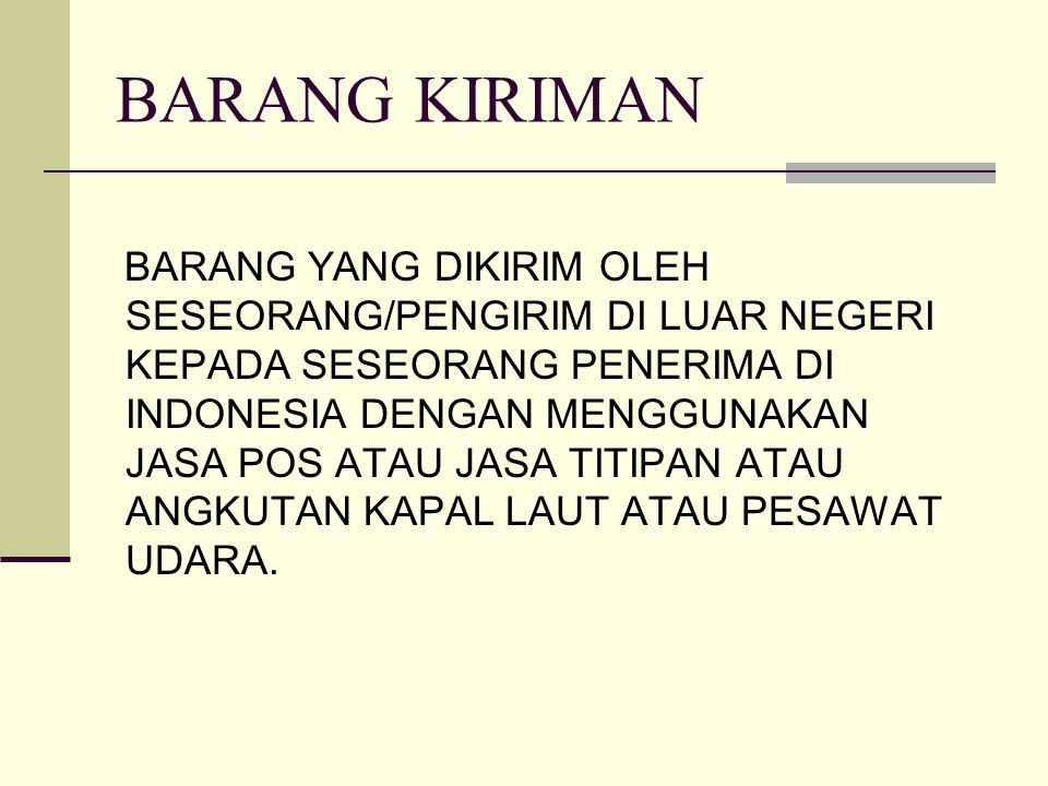 BARANG KIRIMAN