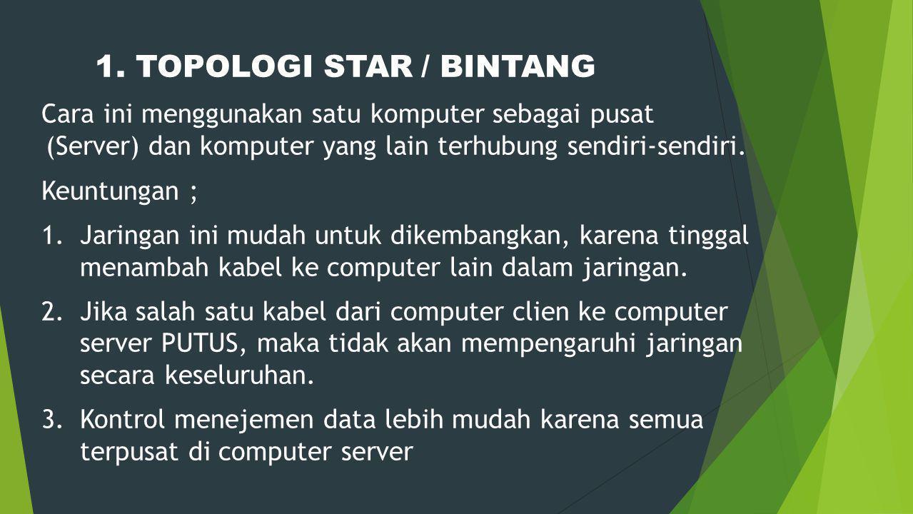 1. TOPOLOGI STAR / BINTANG