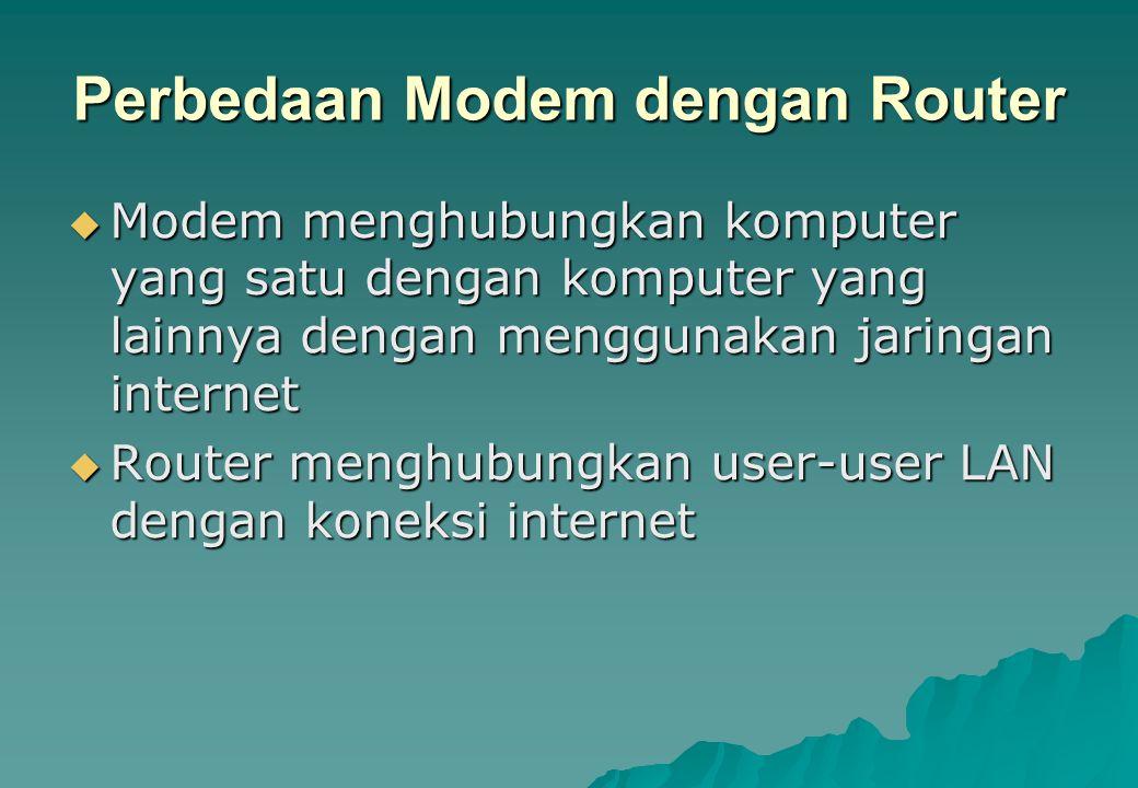 Perbedaan Modem dengan Router