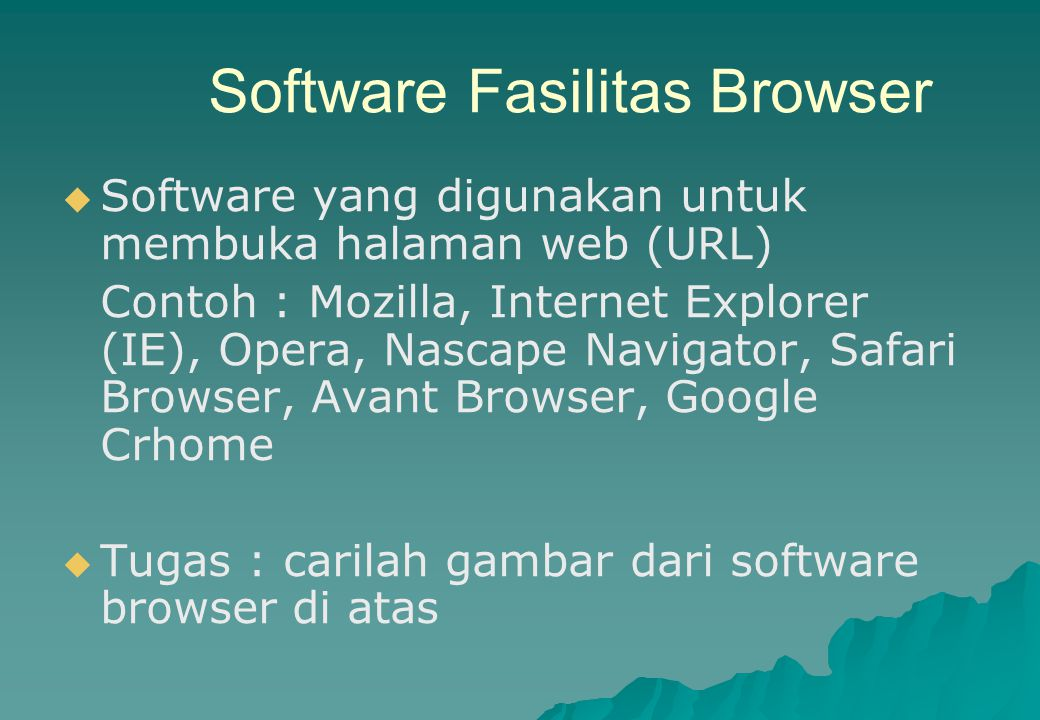 Software Fasilitas Browser