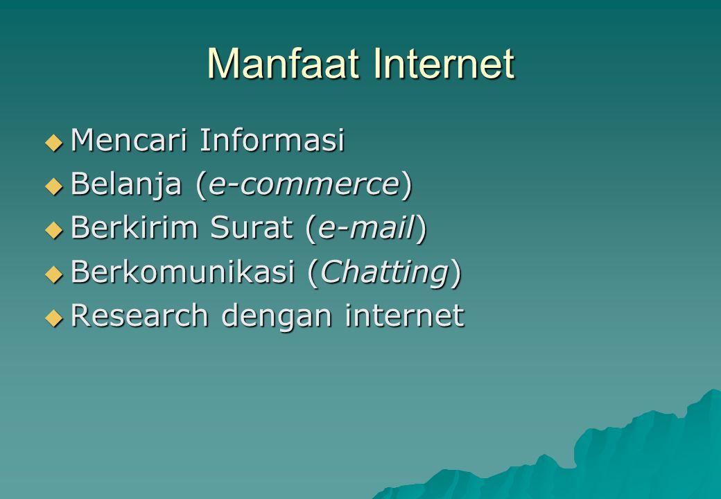 Manfaat Internet Mencari Informasi Belanja (e-commerce)