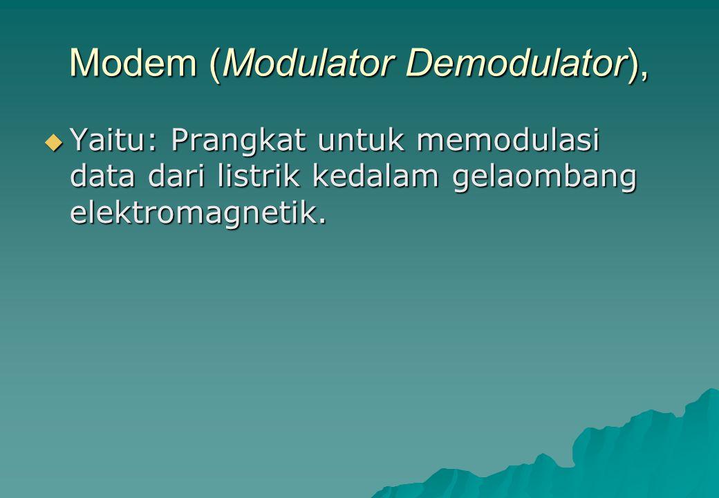 Modem (Modulator Demodulator),