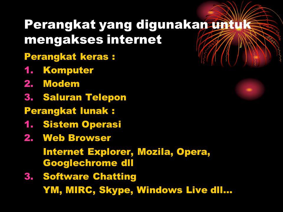 Perangkat yang digunakan untuk mengakses internet