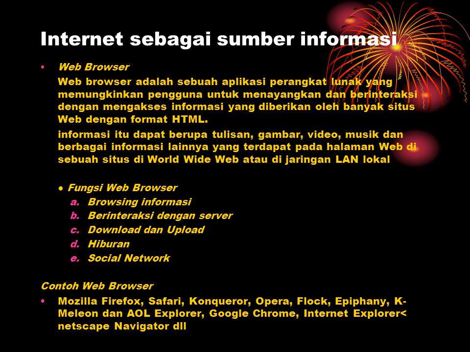Internet sebagai sumber informasi