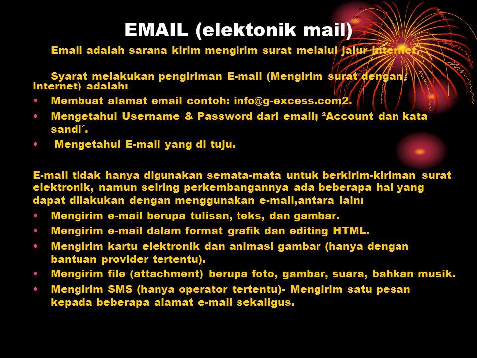 EMAIL (elektonik mail)