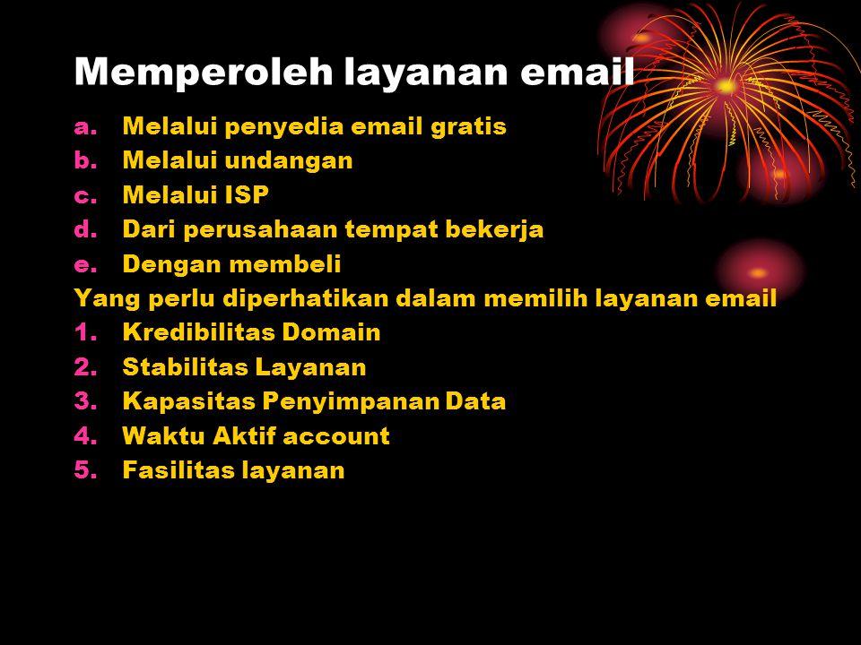 Memperoleh layanan email
