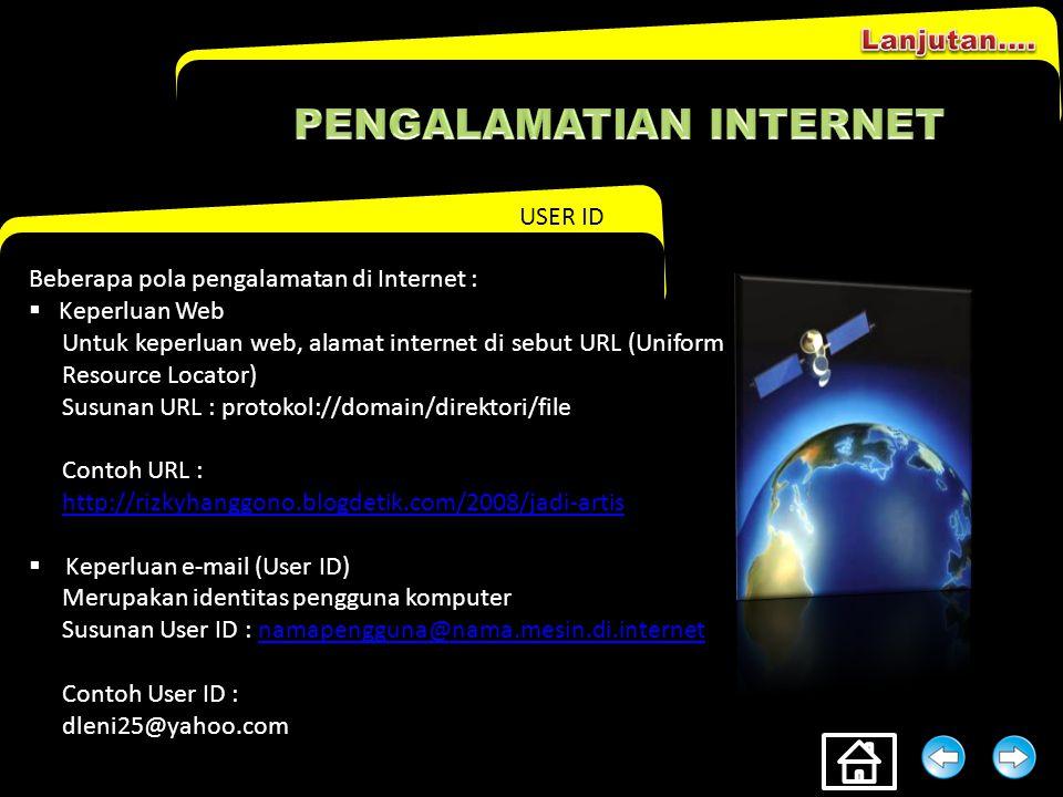 PENGALAMATlAN INTERNET