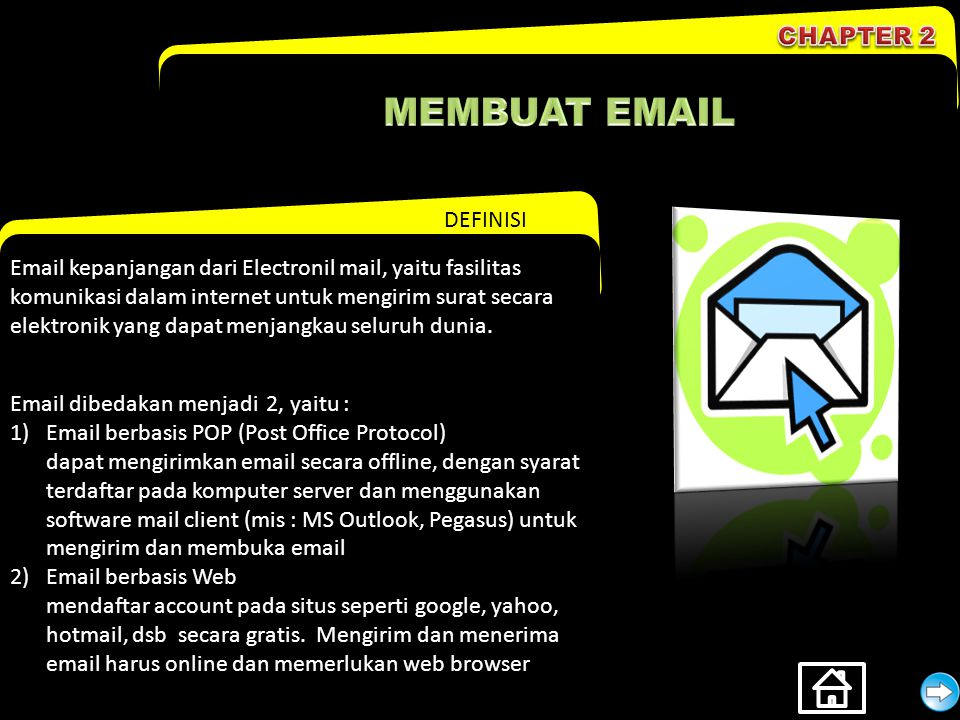 MEMBUAT EMAIL CHAPTER 2 DEFINISI