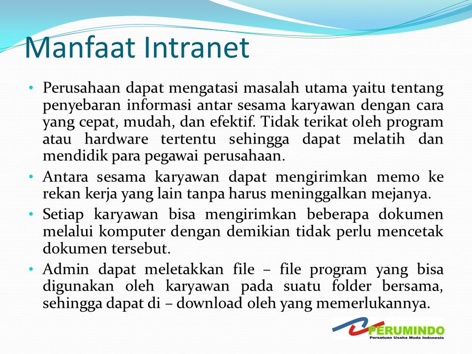 Manfaat Intranet