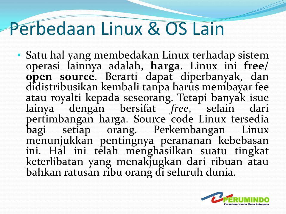 Perbedaan Linux & OS Lain
