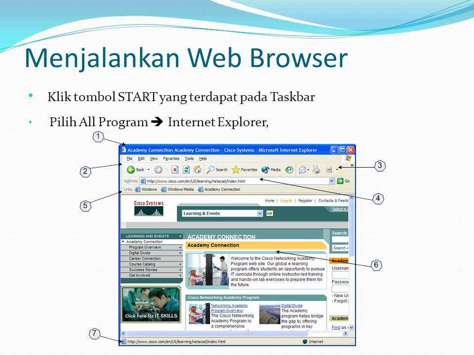 Menjalankan Web Browser