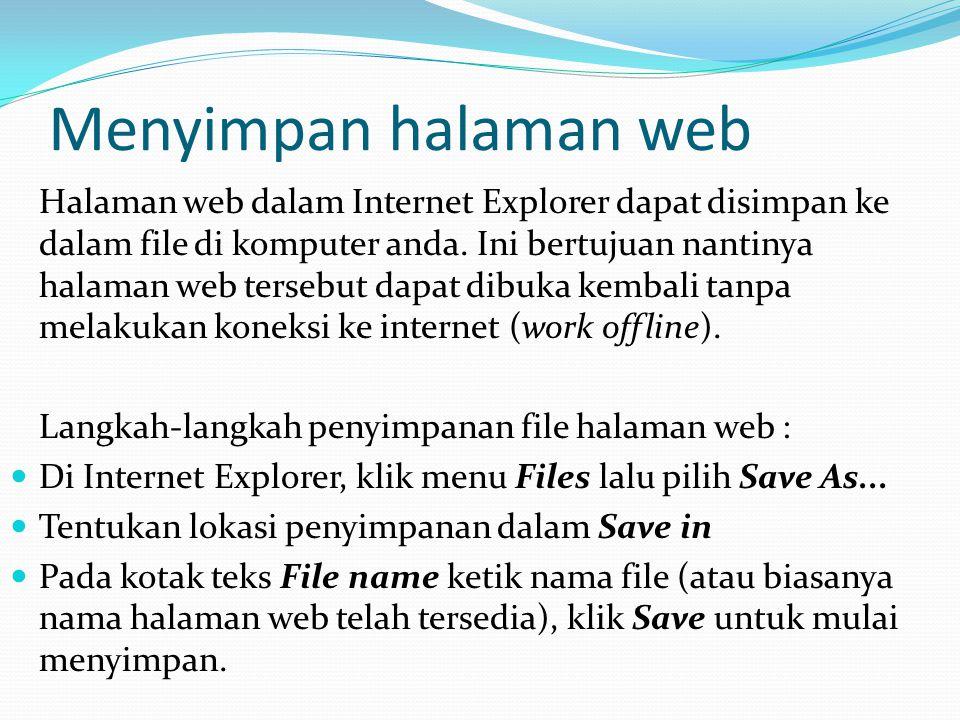 Menyimpan halaman web