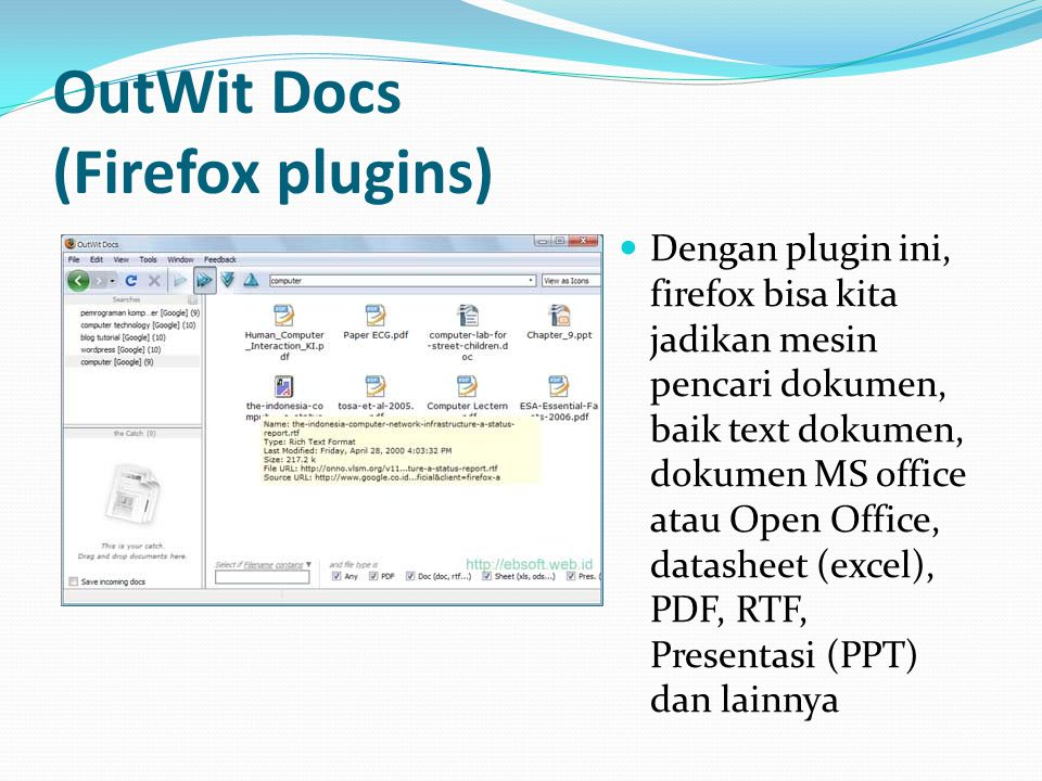 OutWit Docs (Firefox plugins)