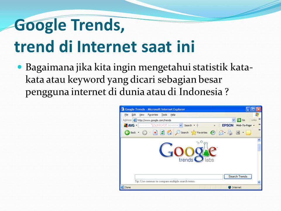 Google Trends, trend di Internet saat ini