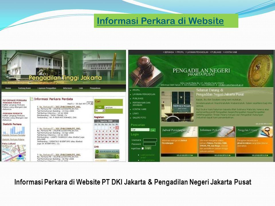Informasi Perkara di Website