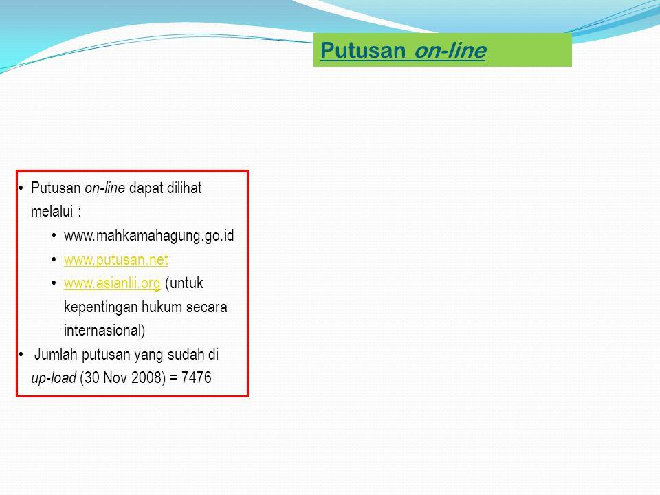 Putusan on-line Putusan on-line dapat dilihat melalui :