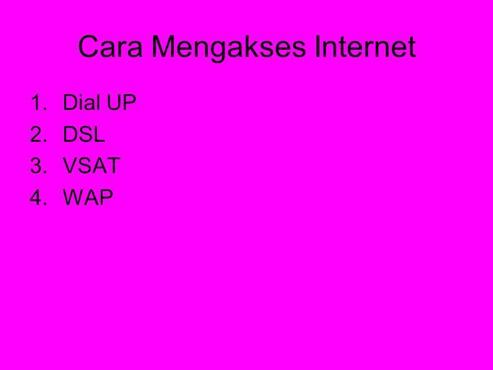 Cara Mengakses Internet