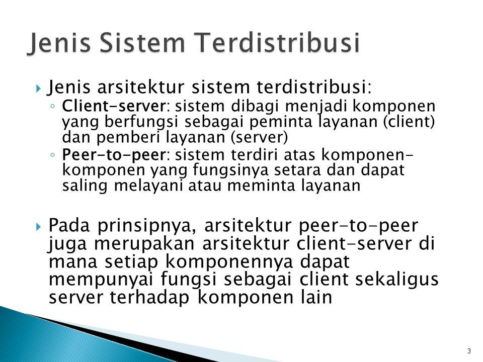 Jenis Sistem Terdistribusi