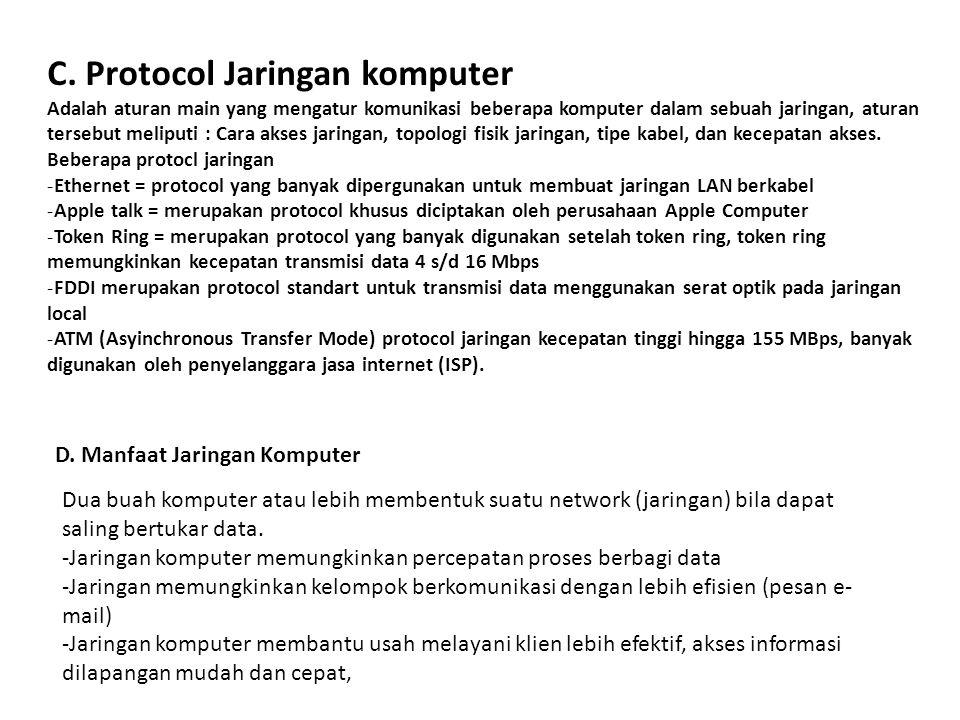 C. Protocol Jaringan komputer