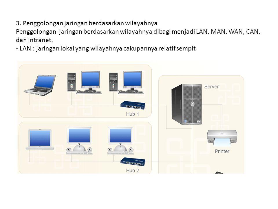 3. Penggolongan jaringan berdasarkan wilayahnya