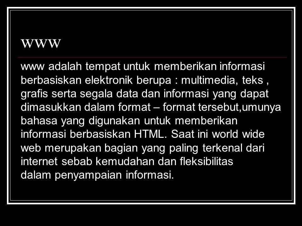 www www adalah tempat untuk memberikan informasi