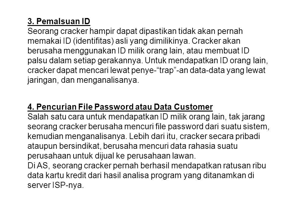3. Pemalsuan ID