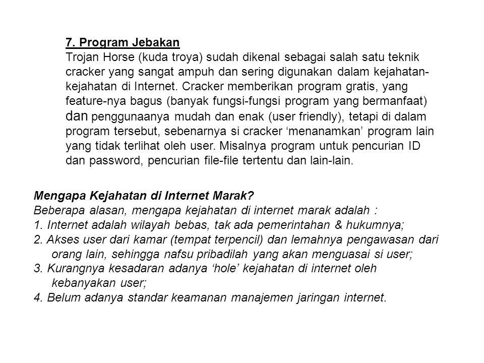 7. Program Jebakan