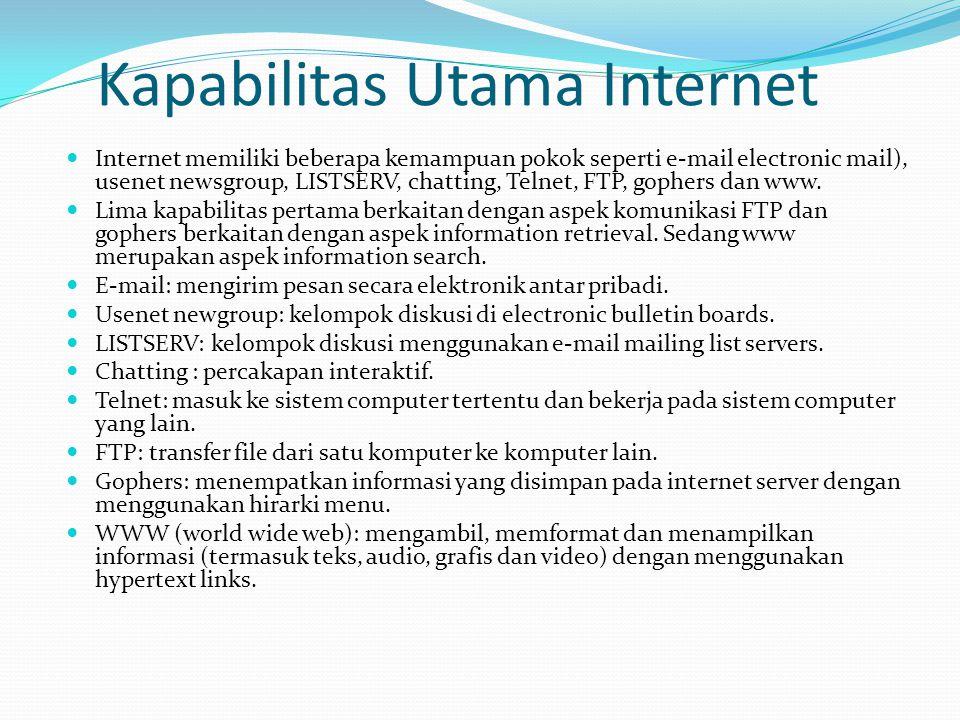 Kapabilitas Utama Internet
