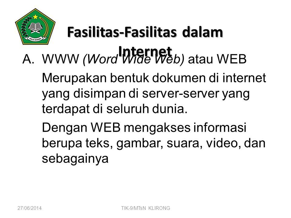 Fasilitas-Fasilitas dalam Internet