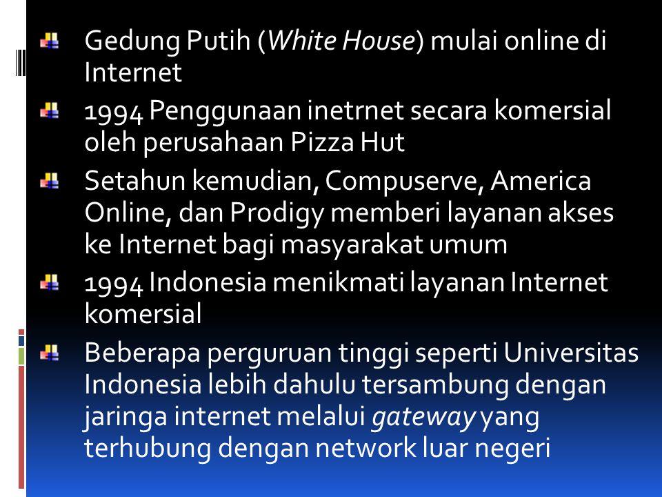 Gedung Putih (White House) mulai online di Internet