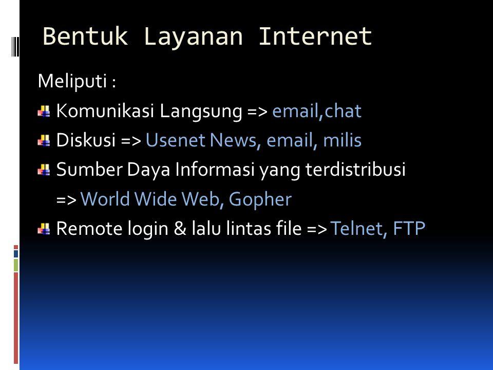 Bentuk Layanan Internet