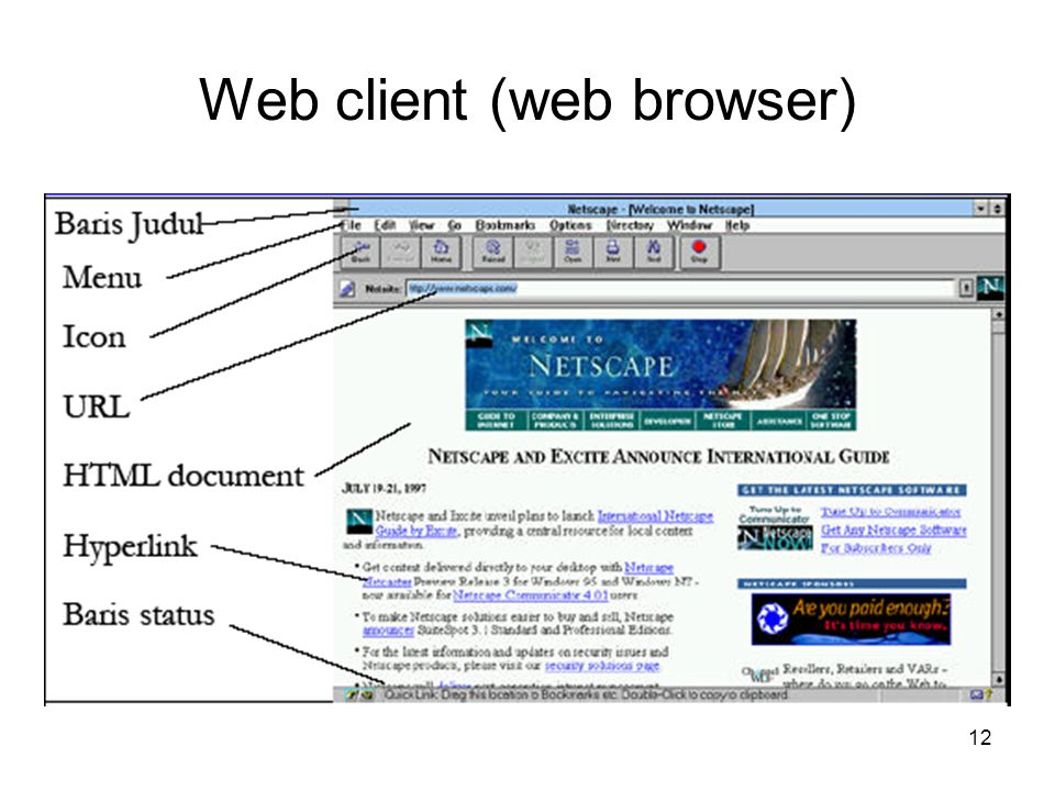 Web client (web browser)