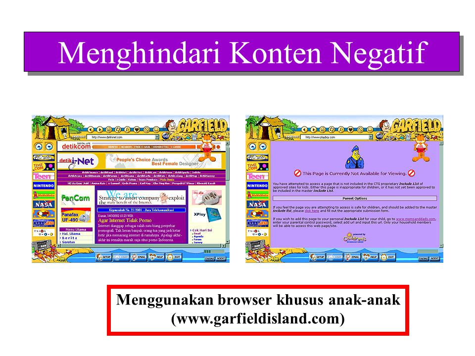 Menggunakan browser khusus anak-anak