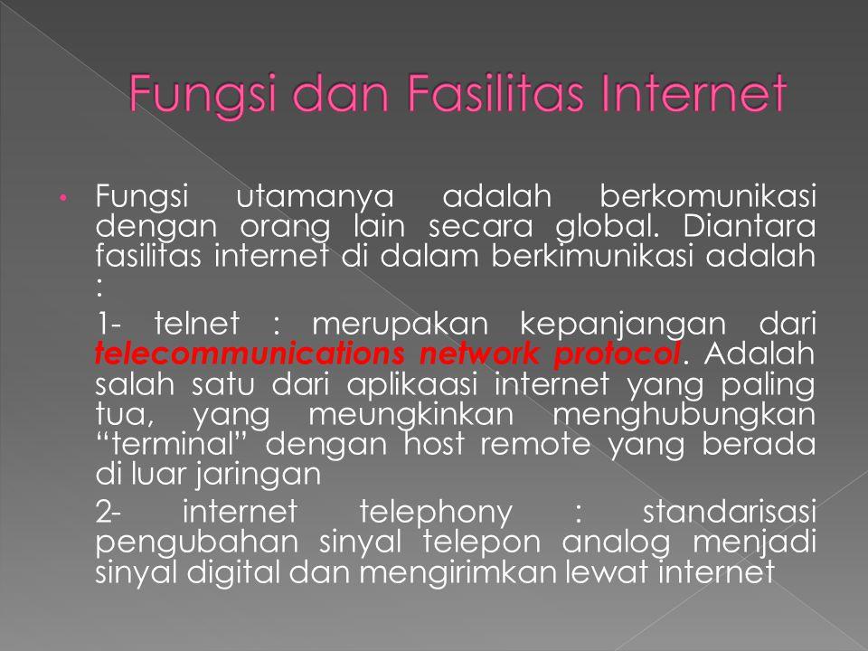 Fungsi dan Fasilitas Internet