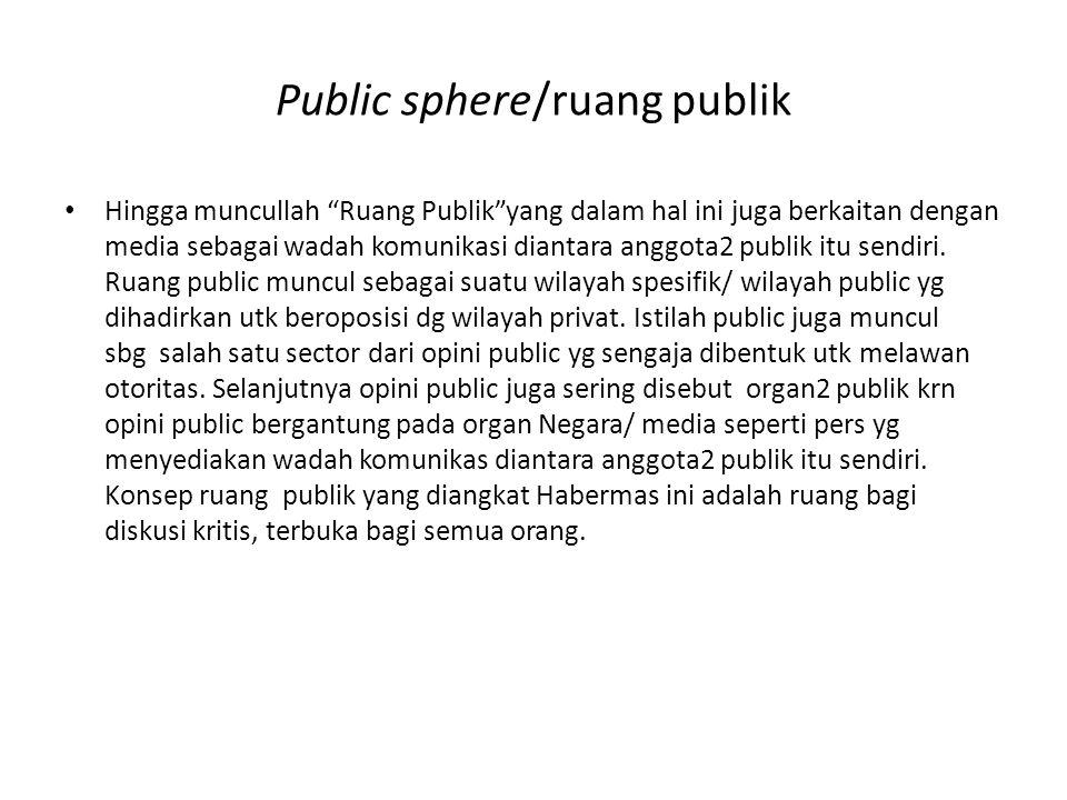 Public sphere/ruang publik