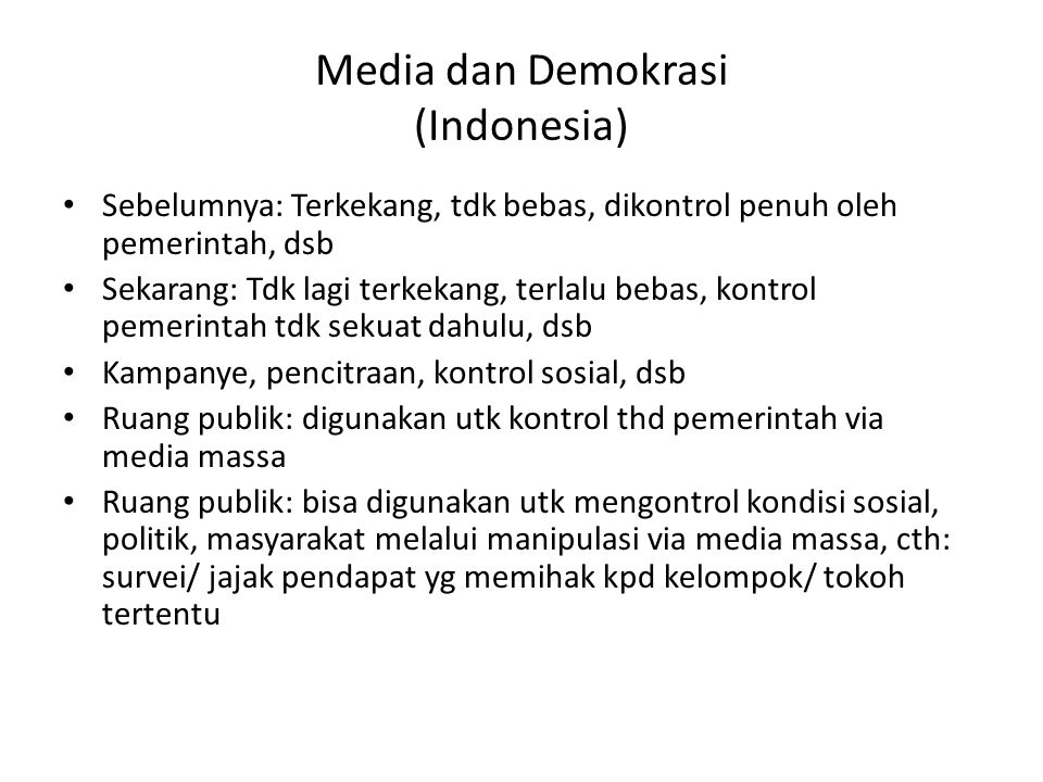 Media dan Demokrasi (Indonesia)