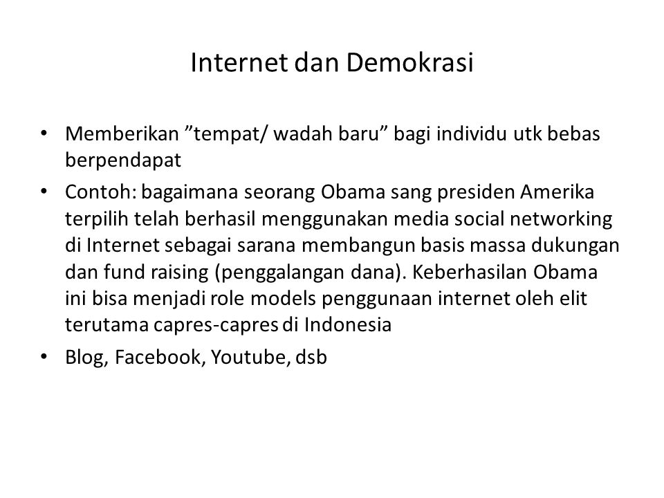 Internet dan Demokrasi
