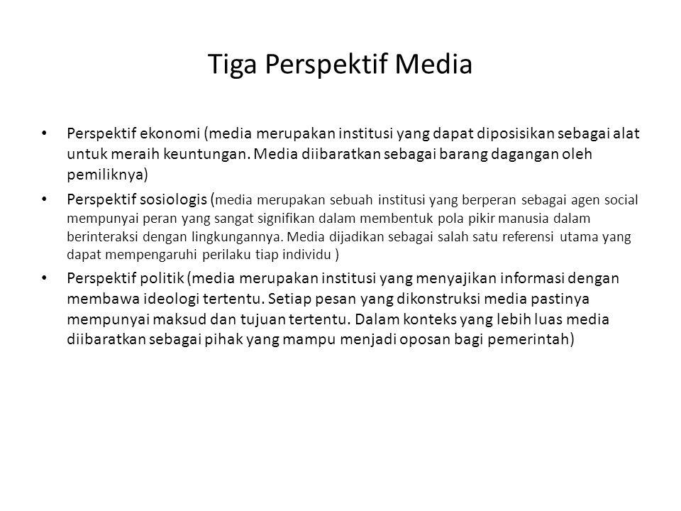Tiga Perspektif Media
