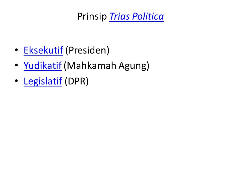 Prinsip Trias Politica