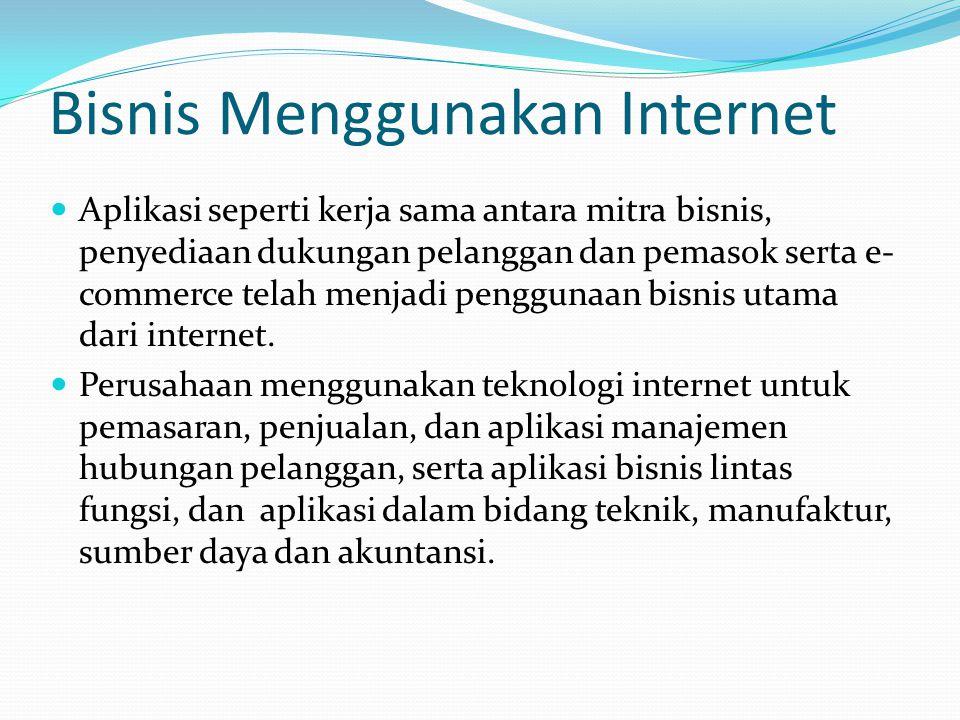 Bisnis Menggunakan Internet