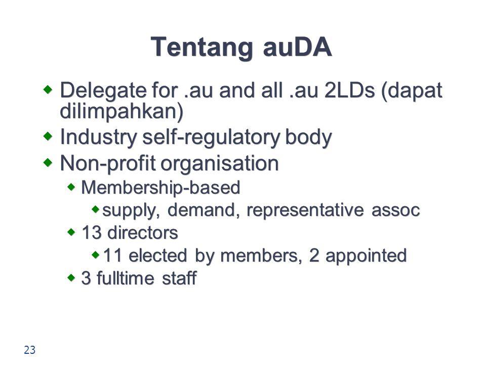 Tentang auDA Delegate for .au and all .au 2LDs (dapat dilimpahkan)