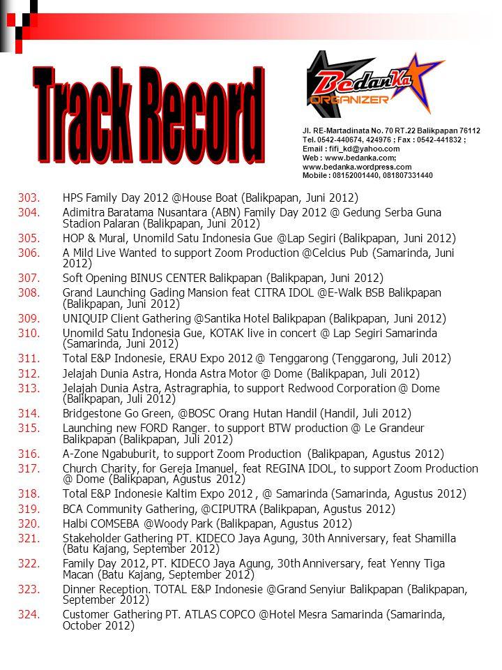 Track Record HPS Family Day 2012 @House Boat (Balikpapan, Juni 2012)