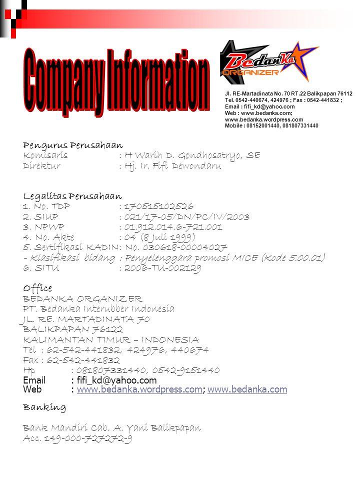 Company Information Pengurus Perusahaan