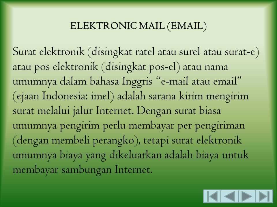 ELEKTRONIC MAIL (EMAIL)