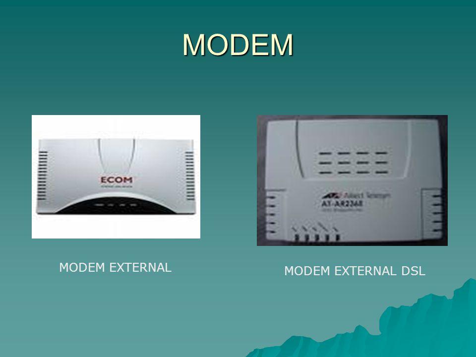 MODEM MODEM EXTERNAL MODEM EXTERNAL DSL