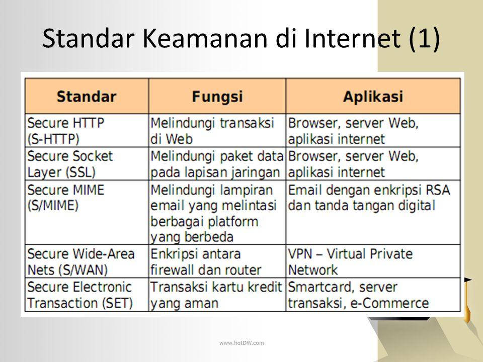 Standar Keamanan di Internet (1)