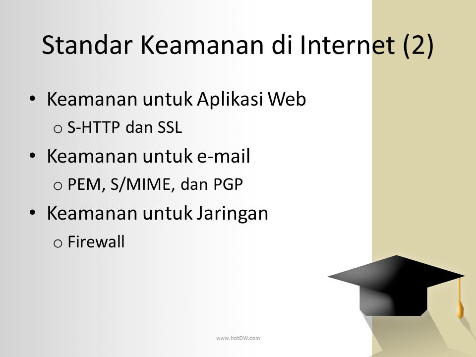 Standar Keamanan di Internet (2)