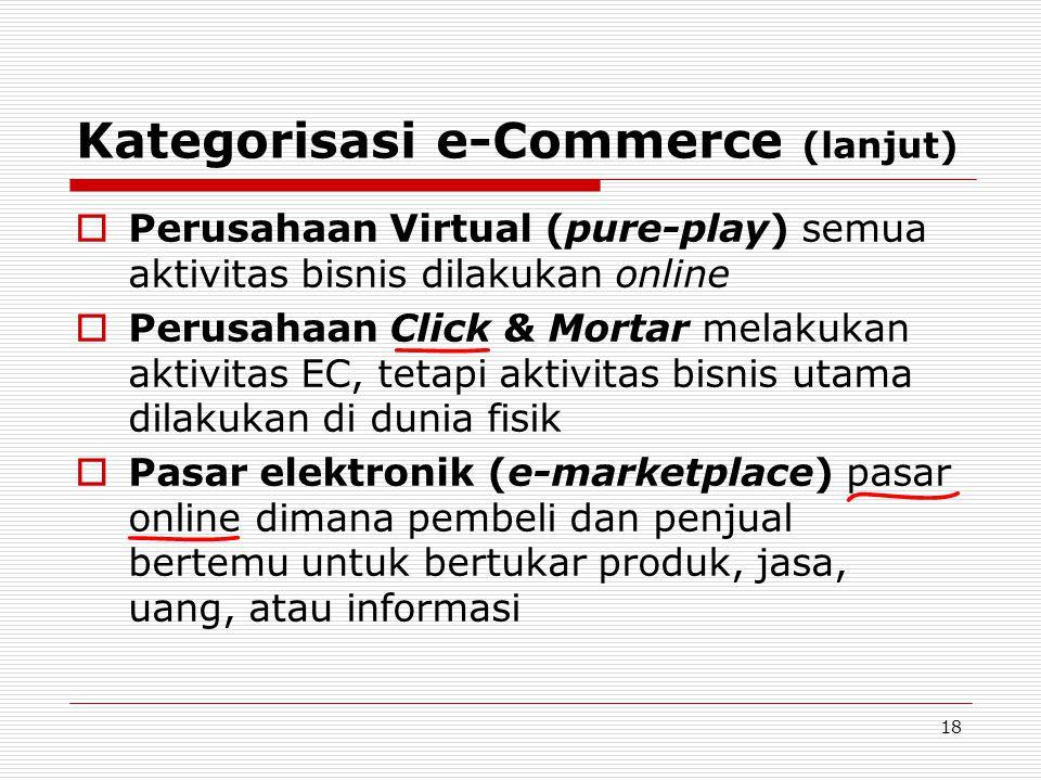 Kategorisasi e-Commerce (lanjut)