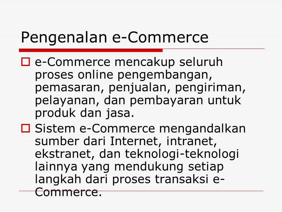 Pengenalan e-Commerce