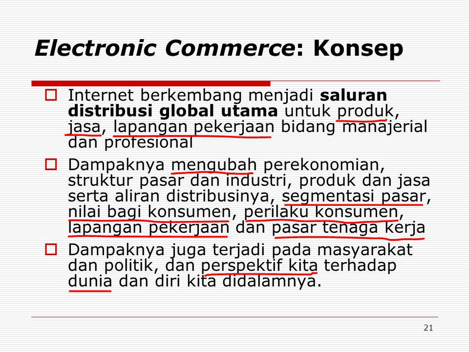 Electronic Commerce: Konsep